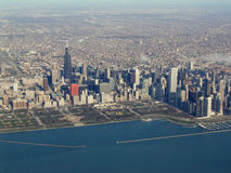 Aerial View of Chicago Waterfront Stock Image
