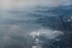 Aerial View China Mountain Royalty Free Stock Images