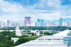 Aerial view of chinese city,shenzhen Royalty Free Stock Photo