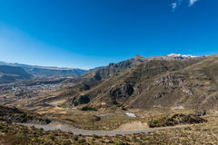 Aerial view Chivay peruvian Andes Arequipa Peru Royalty Free Stock Image