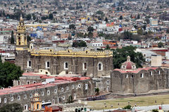 Aerial view of Cholula Royalty Free Stock Image
