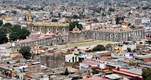 Aerial view of Cholula Royalty Free Stock Photography