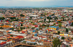 Aerial view of Cholula in Puebla, Mexico Royalty Free Stock Image