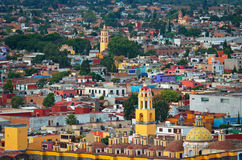 Aerial view of Cholula in Puebla, Mexico royalty free stock photography
