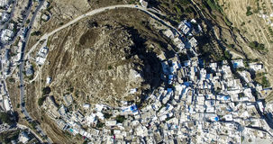 Aerial view of Chora town, Ios island, Cyclades, Aegean, Greece Stock Photo
