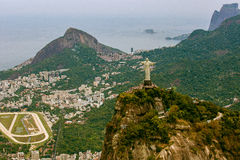 Aerial View of Christ the Redeemer Statue platform Stock Photography
