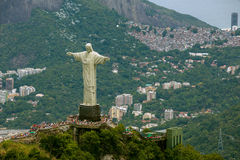 Aerial View of Christ the Redeemer Statue platform Royalty Free Stock Image