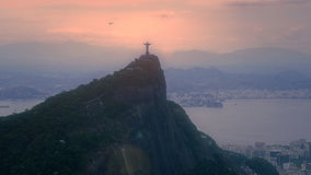 Aerial View of Christ the Redeemer Statue Stock Photo