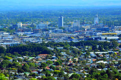Aerial view of Christchurch city center new skyline - New Zealan Royalty Free Stock Photos