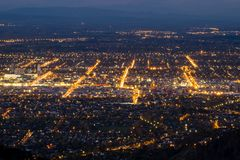 Aerial view of Christchurch City, New Zealand royalty free stock images