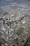 Aerial View of Christchurch Earthquake Demolitions Royalty Free Stock Photo