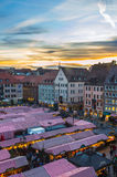 Aerial view Christmas Market - Nuremberg-Germany Royalty Free Stock Image