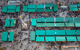 Aerial view of christmas markets in Munich Royalty Free Stock Photo