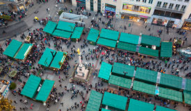 Aerial view of christmas markets in Munich Stock Image