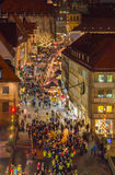 Aerial view-Christmastime-Nuremberg-Germany Stock Images