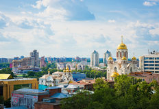 Aerial view of The Church on Blood in Honour in Yekaterinburg. YEKATERINBURG, RUSSIA - JUNE 26: Aerial view of The Church on Blood in Honour in Yekaterinburg on Stock Photography