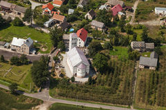 Aerial view of church in Jasienica Gorna  village  near Nysa cit Stock Photography