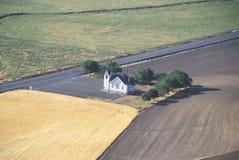 An aerial view of a church near Pullman Washington Royalty Free Stock Photography