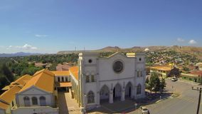 Old mining town church in Northwestern Mexico stock video footage