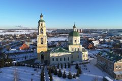 The Church of Saint Nicholas in Domodedovo, Moscow region, Russia royalty free stock photos