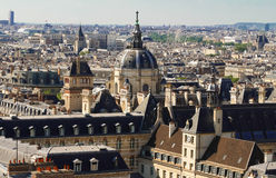 The aerial view of Church of Val-de-Grace, Paris, France. Royalty Free Stock Photo