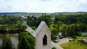Aerial view of the Church stock video footage