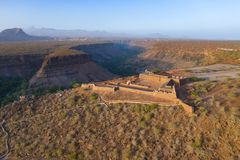 Aerial view of Cidade Velha old fort in Santiago - Cape Verde - Cabo Verde royalty free stock photos