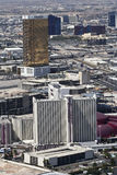 Aerial View, Circus Circus and Trump Tower. Las Vegas, Nevada - June 9: Circus Circus and Trump International on June 9, 2011, in Las Vegas, Nevada. An aerial Royalty Free Stock Images