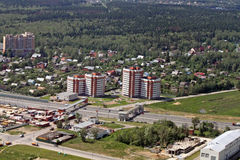 Aerial view of city. With buildings and roads Stock Photography