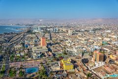 Aerial view of the city of Arica Chile. Aerial view of the city of Arica, Chile stock image