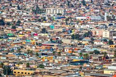 Aerial view of the city of Arica Chile. Aerial view of the city of Arica, Chile stock photos
