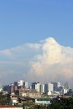 Aerial view city in bangkok Stock Image