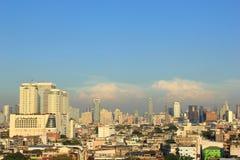 Aerial view city in bangkok Stock Images
