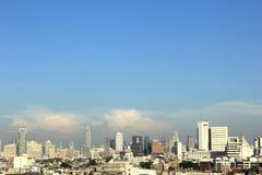 Aerial view city in bangkok Royalty Free Stock Photo