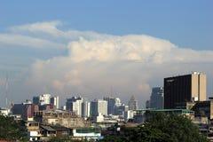 Aerial view city in bangkok Royalty Free Stock Photos