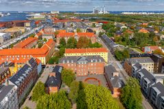 Copenhagen. Aerial view of the city. royalty free stock images