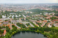 Aerial view of city Berlin Royalty Free Stock Photos