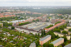 Aerial view of city Berlin Royalty Free Stock Photo