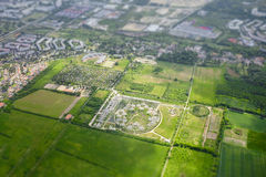 Aerial view of city Berlin Stock Photography