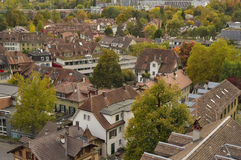 Aerial view of city of Bern. Switzerland Stock Images