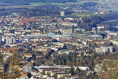 Aerial view of city of Bern, Switzerland Royalty Free Stock Images