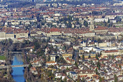 Aerial view of city of Bern, Switzerland Stock Photography
