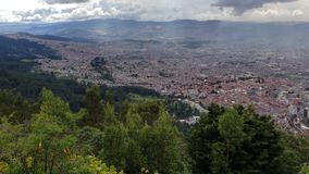 Aerial view of the city of Bogota, Colombia. stock footage
