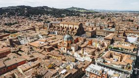 Aerial view of Bologna stock photos