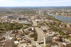 Aerial View of the city of Boston Royalty Free Stock Photo