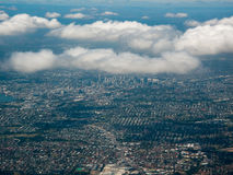 Aerial View of the City of Brisbane, Australia royalty free stock photography