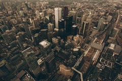 Aerial View of City Building Royalty Free Stock Photo