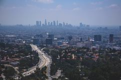 Aerial View of City Buildings Royalty Free Stock Photography