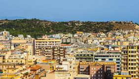 Aerial view of Cagliari (hdr) Royalty Free Stock Photography