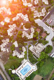 Aerial view of city Stock Photos